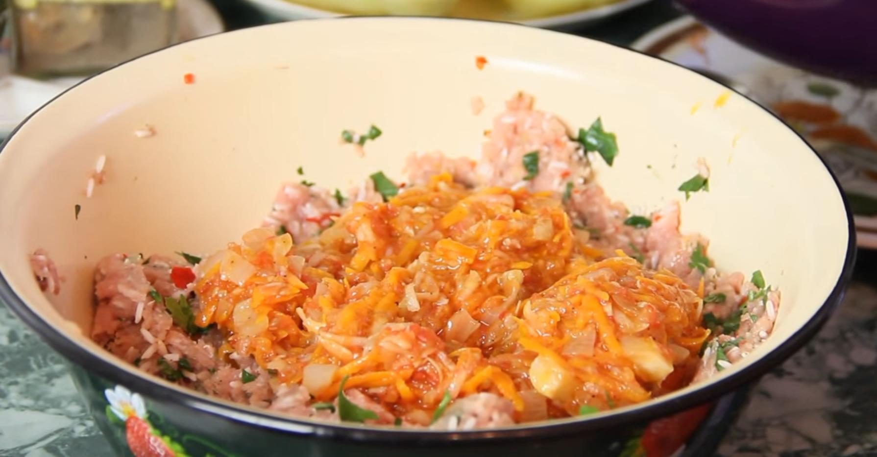 Рис с фаршем на сковороде рецепт пошагово в