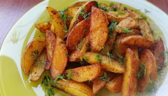 Картофель деревенски духовке рецепт фото
