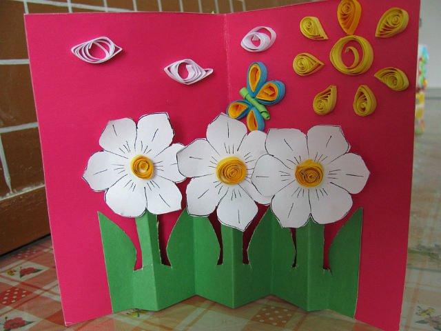 Открытка, открытки на 8 марта мамам для детского сада