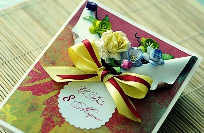 Красивые открытки своими руками на 8 марта маме