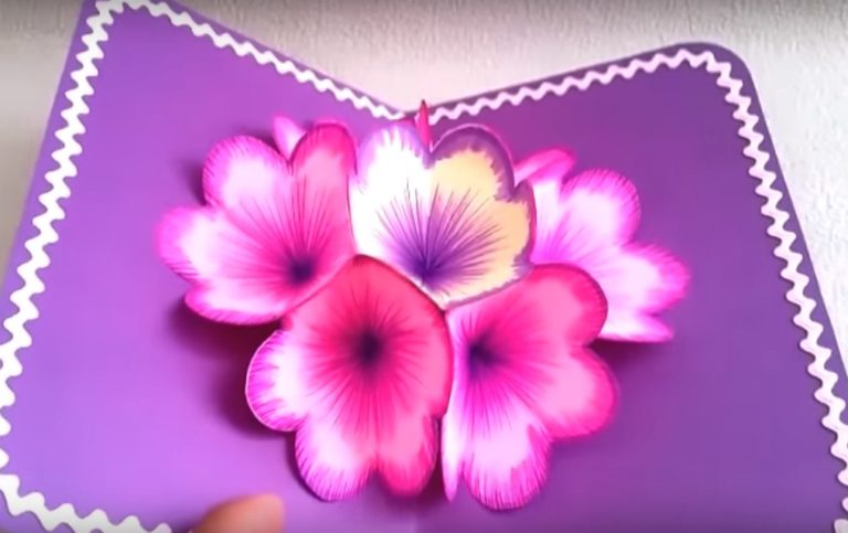 3 дэ открытка с цветами
