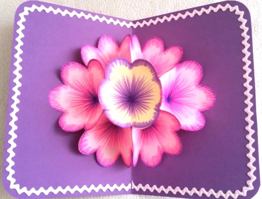 Днем, открытка на 8 марта своими руками цветы