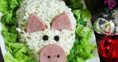 Салат Свинка на Новый 2019 год – простые и вкусные рецепты